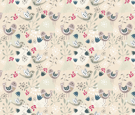 Scandinavian Magic Folk Forest fabric by fleur_&_grace on Spoonflower - custom fabric