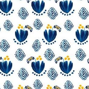 "4"" Aztec Blue Cactus Flower"