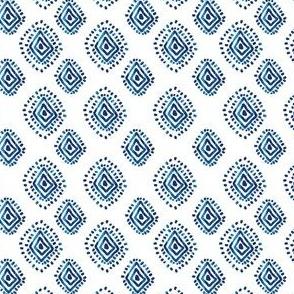 "4"" Blue Aztec Print"