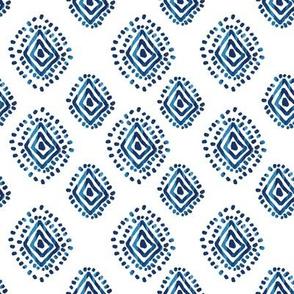 "8"" Blue Aztec Print"