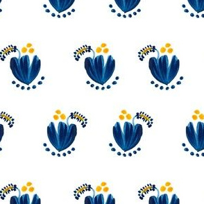 """4"""" Blue Cactus Flower"""