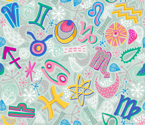 Atomic Astrology fabric by slumbermonkey on Spoonflower - custom fabric