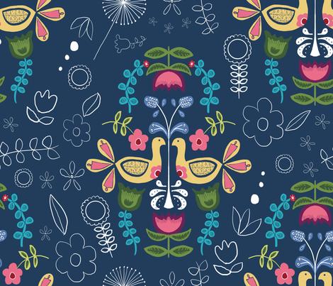 Scandinavian Folk Art fabric by abbyjacdesigns on Spoonflower - custom fabric