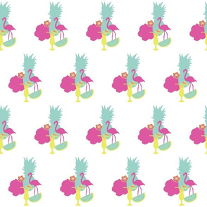 White_Tropical_Party_Placementprint_Stock