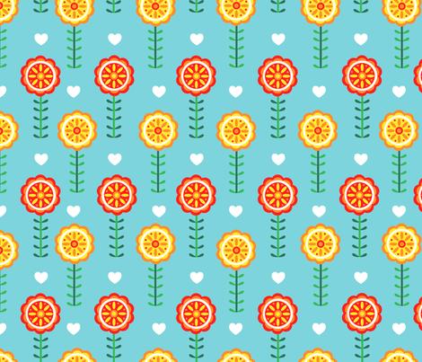 Sweedish Flowery fabric by gnoppoletta on Spoonflower - custom fabric