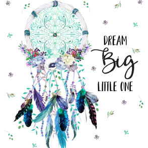 """27'x36"""" Dream Big Little One Teal and Lilac"""