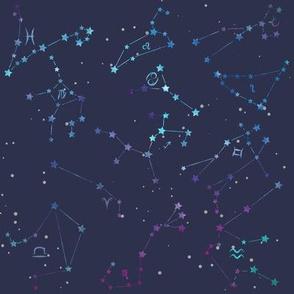 Zodiac Constellations Silver