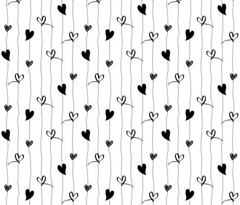 hearts fabric by designjoxx on Spoonflower - custom fabric