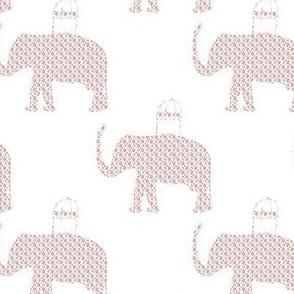 """4"""" Ikat Elephant Print"""