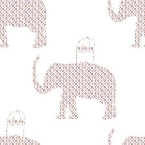 """8"""" Ikat Elephant Print"""