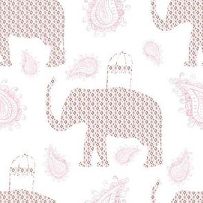 "8"" Ikat Elephant with Paisley"