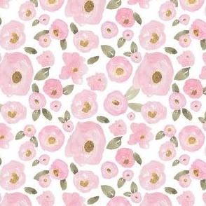 """4"""" Pink Pastel Florals Fuller Print"""
