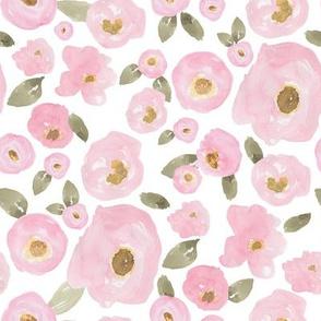 """8"""" Pink Pastel Florals Fuller Print"""