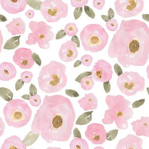 """36"""" Pink Pastel Florals Fuller Print"""