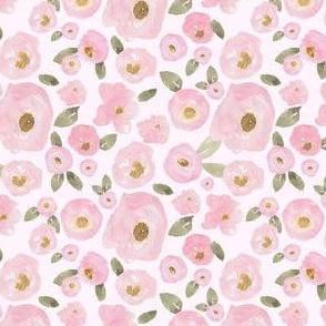 """4"""" Pink Pastel Florals Fuller Print Pink"""