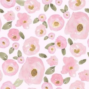 """8"""" Pink Pastel Florals Fuller Print Pink"""