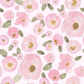"""36"""" Pink Pastel Florals Fuller Print Pink"""
