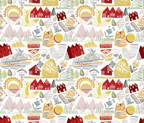 SKANDINAV_01_00 fabric by talanaart on Spoonflower - custom fabric