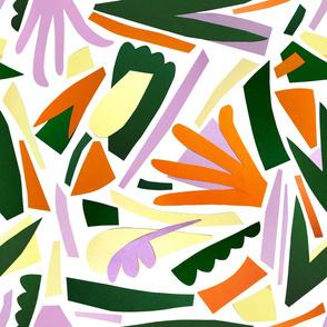 Asbtract Tropics Paper Cut Print