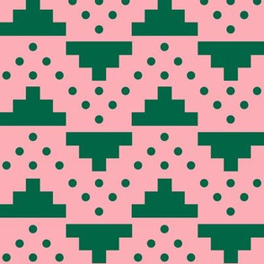 Pink and Green Blocks And Dots