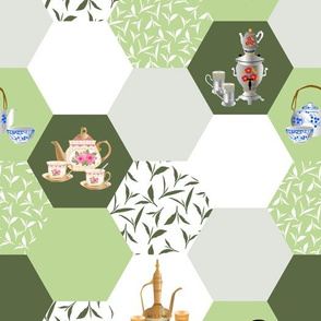 tea hexagons - green