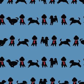 Blue1_Happy_Poodle_Stripes_Stock