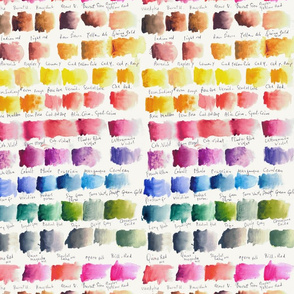 Watercolour Chart - off-white - small