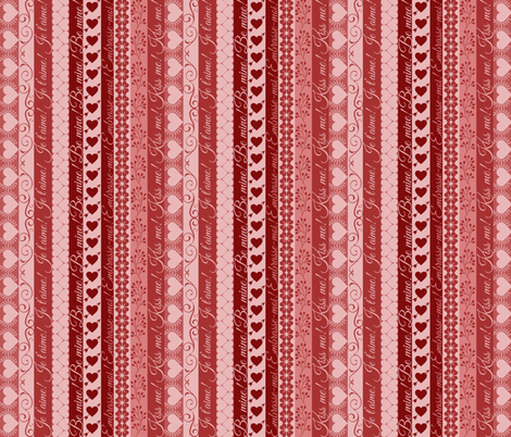 Valentine Ribbons fabric by wiren_creative on Spoonflower - custom fabric