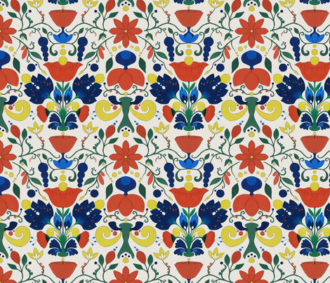 Small Scandinavian  fabric by ficklemuse on Spoonflower - custom fabric
