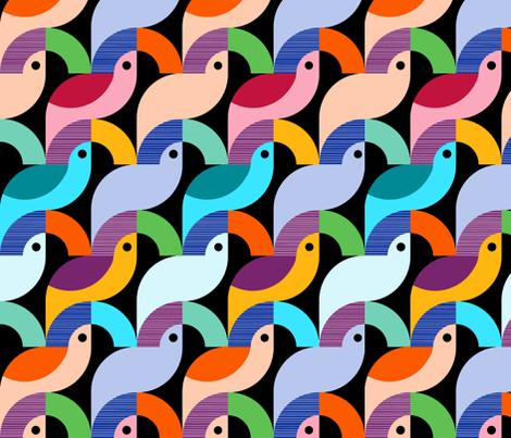 Bold Scandinavian Birds fabric by elramsay on Spoonflower - custom fabric
