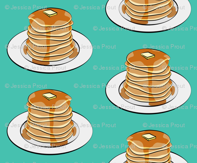 (extra small scale) pancakes - green  C18BS