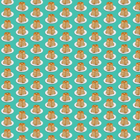 (extra small scale) pancakes - green  C18BS fabric by littlearrowdesign on Spoonflower - custom fabric