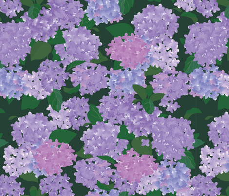hydrangea fabric by annaboo on Spoonflower - custom fabric