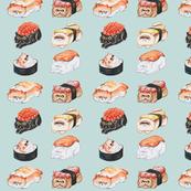 Sushi Persian Cat Watercolor