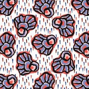 Bold Graphic Line Art Flowers