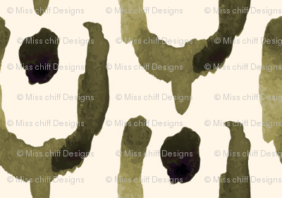 18-1h Abstract Tulip Olive _ Miss Chiff Designs