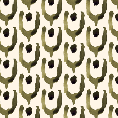 18-1h Abstract Tulip Olive _ Miss Chiff Designs  fabric by misschiffdesigns on Spoonflower - custom fabric