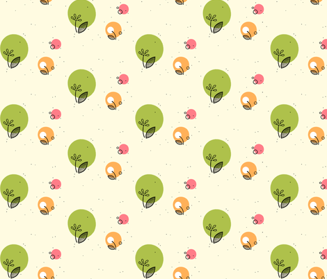 circles and flowers fabric by cosmic_albacore on Spoonflower - custom fabric