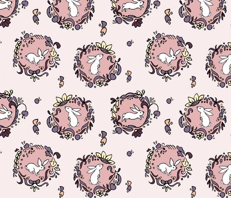 Scandinavian Rabbits fabric by manondelart on Spoonflower - custom fabric