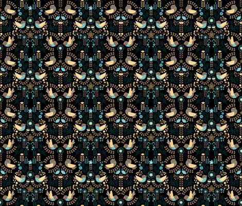 Scandinavian Floral Birds fabric by oppositedge on Spoonflower - custom fabric
