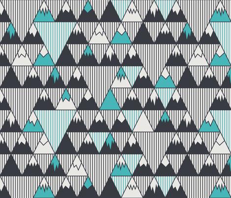 Scandinavian Mountains fabric by jenshepparddesigns on Spoonflower - custom fabric