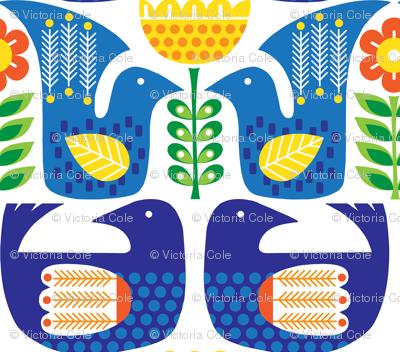 Scandinavian Birds and Flowers