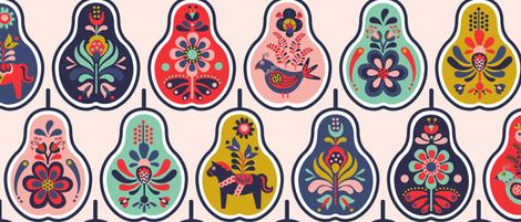Scandinavian Smorgas-pear-d fabric by nanshizzle on Spoonflower - custom fabric