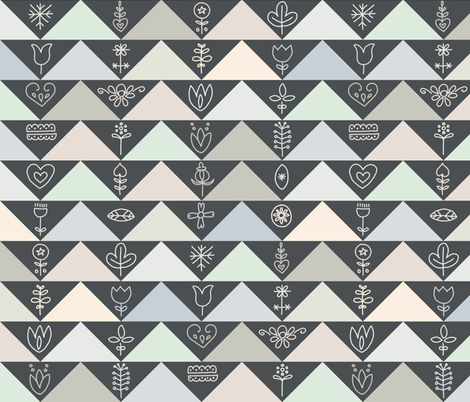scandi geese fabric by mongiesama on Spoonflower - custom fabric