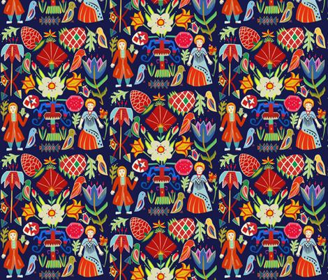 Scandinavian Forest fabric by sleepingdogslie on Spoonflower - custom fabric