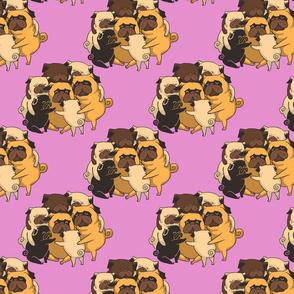Pugs Group Hug