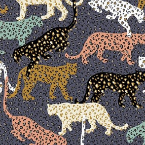 africa africa - leopards - blue - mini