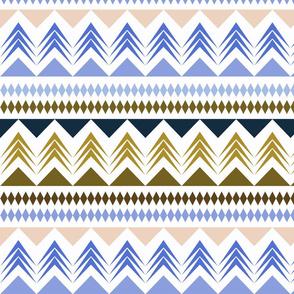 Scandinavian striped pattern.