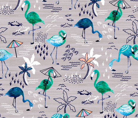 FrolickingFlamingos fabric by gingerlique on Spoonflower - custom fabric