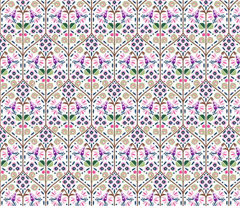 CY. The Scandinavian art challenge. Twinflower fabric by cotsy_yard on Spoonflower - custom fabric